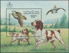 LAOS Bloc N°91 ** Bf Chiens, stockolomia 1986, Dogs Sheet Sc#744 MNH