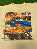 Vtg 1992 NHRA Member Top Fuel Funny Car Drag Racing T Shirt Sz Large Torn Stain