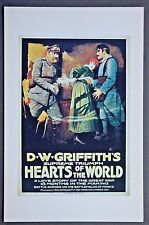 Postcard of Movie Poster for D.W. Griffith's Hearts of the World