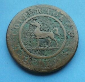 1812 Birmingham/South Wales, Copper Penny Token, CHEAP, low grade, as shown.