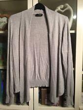04 George Plus Sz 22 Grey Fine Knit Soft Stretchy Longer In Front Cardigan