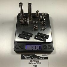 Firenock Titanium fastener upgrade kit for 2018 Mathews Triax + plates