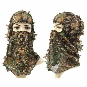 Hunting Mask Camouflage 3D Leaf Hat Tactical Airsoft Military Full Face Mask