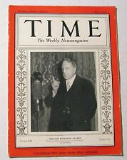 Vintage Time Magazine May 1 1933 William Randolph Hearst Cover Weekly News