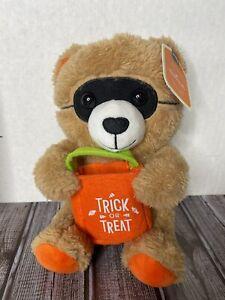 "Hallmark Halloween TRICK or TREAT Mask Costume Plush Bear 9"" Stuffed Animal Toy"