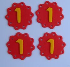 12 edible AGE INITIAL DISC cake CUPCAKE TOPPER personalised NUMBER letter PARTY