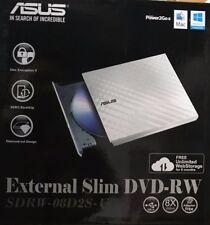ASUS - sdrw-08d2 - USB 2.0 BLANCO EXTERNA CD/DVD Regrabador Mac OS COMPATIBLE