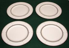 "Set of 4 Lenox USA Lace Couture 9 3/8"" Accent Luncheon Plates - Very Good Condit"