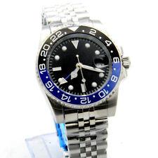 GMT 40MM Black Dial Luminous Ceramic Bezel Mechanical Automatic Mens Watch