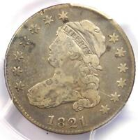 1821 Capped Bust Quarter 25C B-3 - PCGS Fine Details - Rare Coin - Scarce Date!