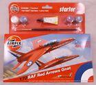 Airfix 1:72 RAF Royal Air Force Red Arrows Gnat Starter Set Model Kit Aeroplane