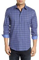 * NWT Bugatchi Shaped Fit Plaid Sport Shirt NWT, M