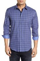 Bugatchi Shaped Fit Plaid Sport Shirt NWT, M