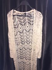 Da Donna H&M diviso Uncinetto Estate Tunica Beige a Maglia Estate Sz M EXC Beach Wear