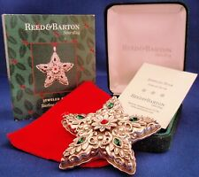MIB 2005 Reed Barton Sterling Silver Jeweled Star Christmas Ornament Pendant