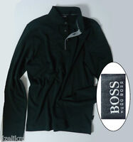 NWT Hugo Boss Black Label by Hugo Boss Long-sleeved Cotton Polo Sweatshirt