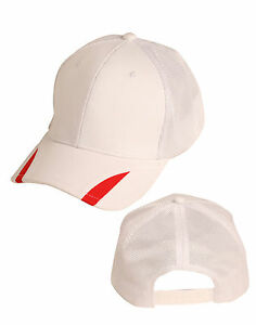 Contrast Peak Trim Cap Cotton Twill with Poly Mesh in 6 Different Colors CH41