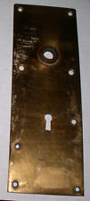 VINTAGE BRASS DOOR KNOB KEY HOLE PLATE COVER