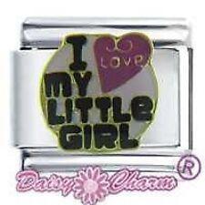 ABALORIO MARGARITA JSC Amuleto Italiano - I LOVE MY LITTLE GIRL