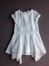 Warn Once Country Road Girls White Embroidered Summer Dress Size 3
