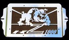 "cache / Grille de radiateur inox Kawasaki Z1000 03>06 ""Bulldog"" + grillage or"