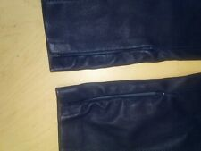 Ralph Lauren Skinny Leather Pants-Leggings, Navy, Size 4