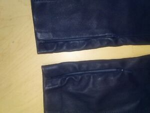 Ralph Lauren Skinny Leather Pants-Leggings, Navy, Size 4