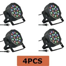 4 PACK SET 18PCS 3 in 1 RGB PAR LED DMX512 Disco DJ Stage Lighting (71-052X4PCS)