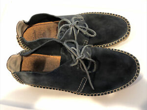 Clarks Mens Leather Navy Blue Size 9.5M