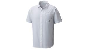 NEW COLUMBIA Men's TWISTED CREEK Short Sleeve Shirt WHITE, S-M-L-XL-XXL