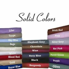 Fabulous Bedding Collection 1000TC Egyptian Cotton UK Single Size Solid Colors
