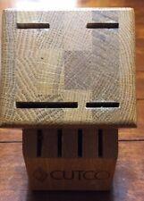 Cutco 1751 Studio Plus 4 Set Block, 8 Slots, Oak Wood, Honey Finish No Box
