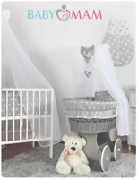 BABY BEDDING SET TO FIT MOSES BASKET WICKER CRIB PILLOW DUVET MATTRESS