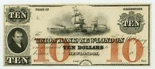 1800's $10 The Union Bank in New-London, Connecticut Note Xf/Au