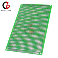 2.54mm Pitch 9cm x15cm 1.6mm Double Side Green Prototype PCB Board Paper for DIY
