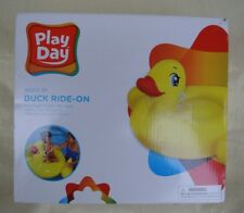 Play Day Duck Baby Seat /  Ride On Pool Float  Ages 3+  NEW