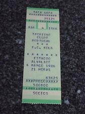 UEFA CUP 1985/86 - Sporting C.P. / F.C. Koln - Used Ticket stub