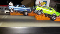 Drag Racing Fire Flames Set of 4 Idea for Diorama Display Scale 1/64 Custom Made