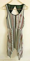MAURICES Women's Multicolor Print Polyester Scoop Neck Sleeveless Dress-Size S