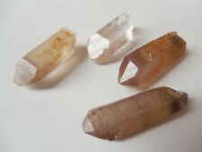 4 nice AA LITHIUM QUARTZ DT crystals 12g from BRAZIL  27-40 mm METAPHYSICAL #29