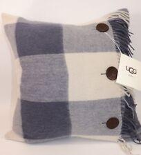 NWT UGG HOME 20x20 Ocean 100% Soft Wool BUFFALO PLAID/CHECK Down Decor Pillow