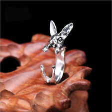 Stainless Steel Rabbit Ring Bunny Style Wrap Around Hare Easter Size Adjustable
