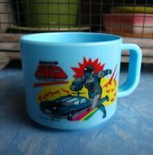 "1989 action Bandai Jiban sentai space sheriff JIBAN Child 2.5"" Blue Plastic Cup"