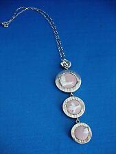Wedgwood Pink Jasper Ware Ducks Silver Pendant Jewellery by Stephen Webster 10in