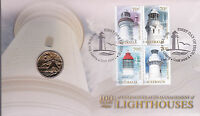 2015 Commonwealth Management of Lighthouses 100 Years FDC/PNC - RAN Mint Coin