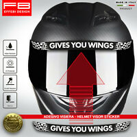 Adesivo Sticker Casco Visiera Helmet Visor GIVES YOU WING Moto GP SBK Honda