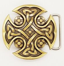Celtic Cross Knotwork Belt Buckle Biker Metal Gothic Pagan Viking mjolnir