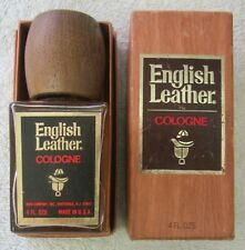 NEW Vintage ENGLISH LEATHER COLOGNE New Old Stock w/ BOX 4 oz by Memco FULL USA
