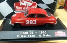 New Rallye Monte-Carlo Atlas 1/43 Red Saab 96 - 1963 E. Carlsson / G. Palm