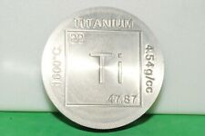 Titanium One Pound Elemental Coin! Ti Bullion .996 Fine 1 Lb Bar Made in the USA
